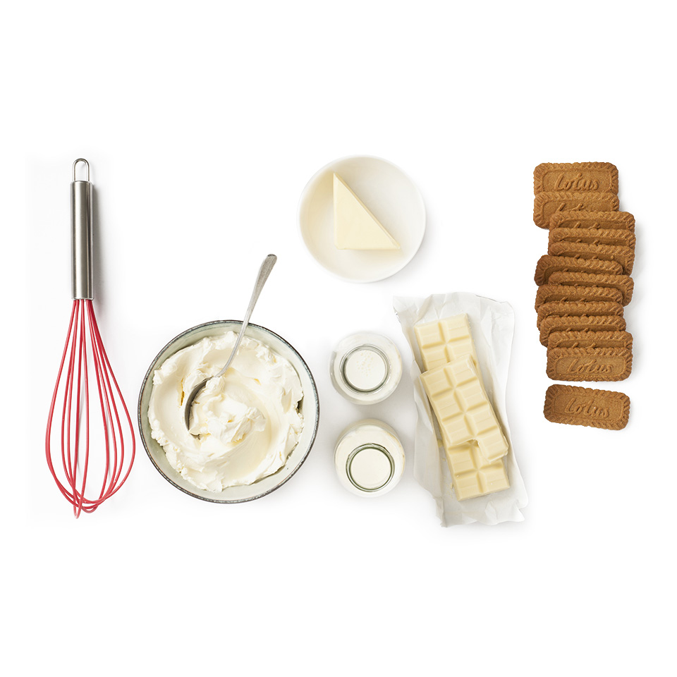 ingredients recette biscuit Original speculoos Cheesecake au chocolat blanc